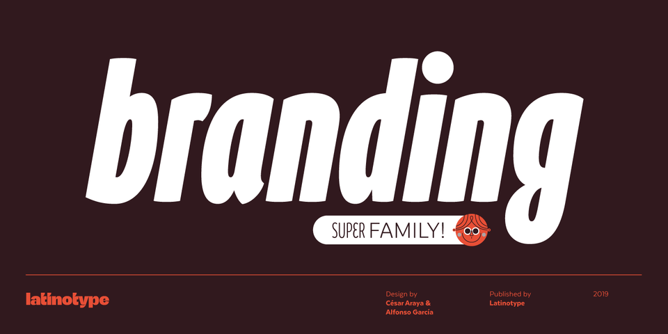 Branding SF font page