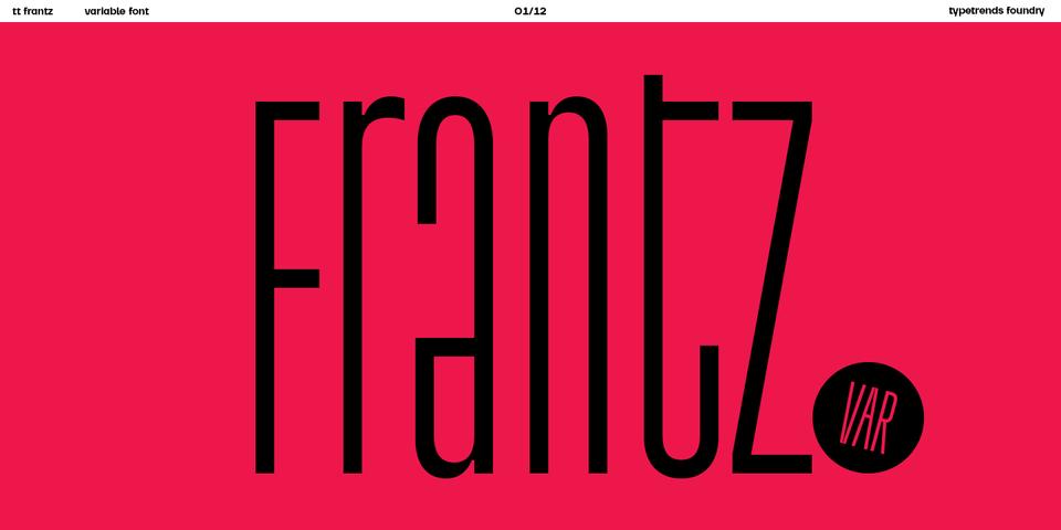 TT Frantz font page