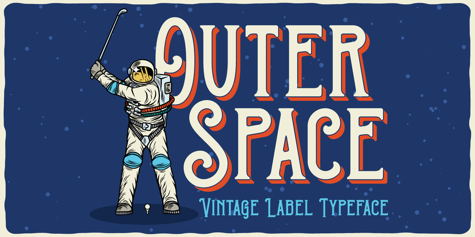Outer Space font page