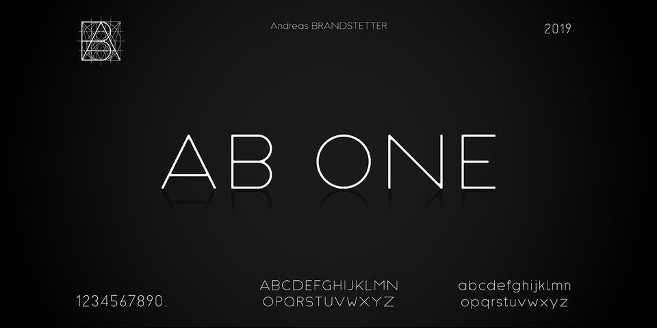 AB One font page