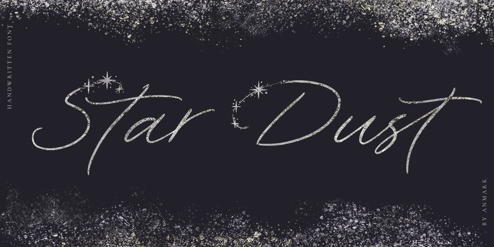 Star Dust font page