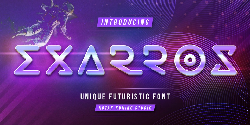 Exarros font page