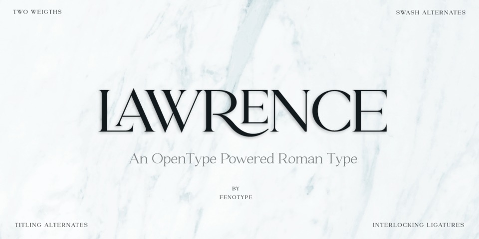Lawrence font page