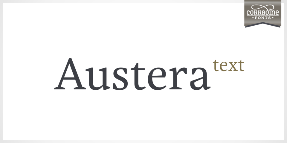 Austera Text font page