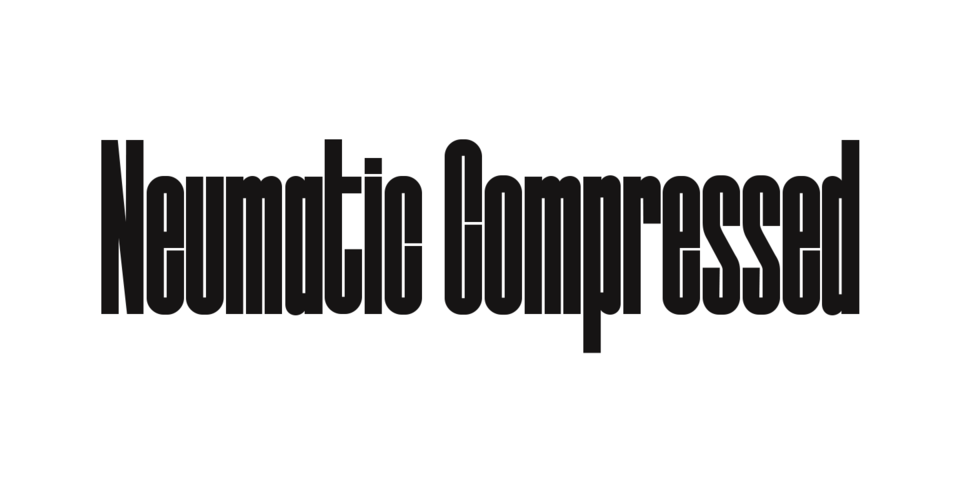 Neumatic Compressed font page