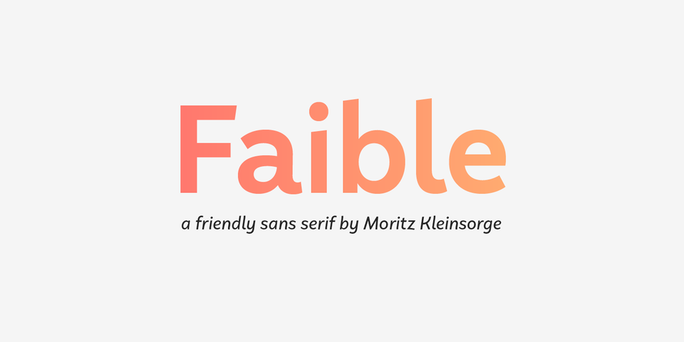 Faible font page
