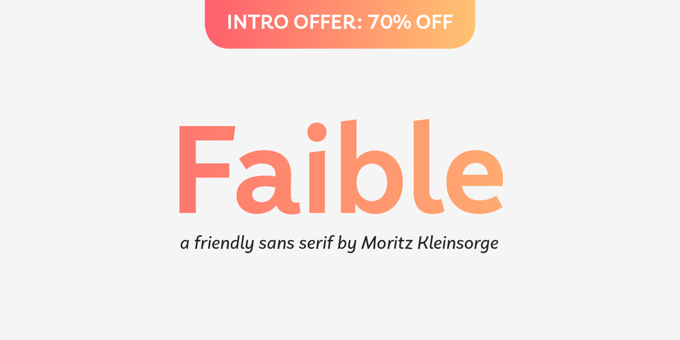 Special offer on Faible