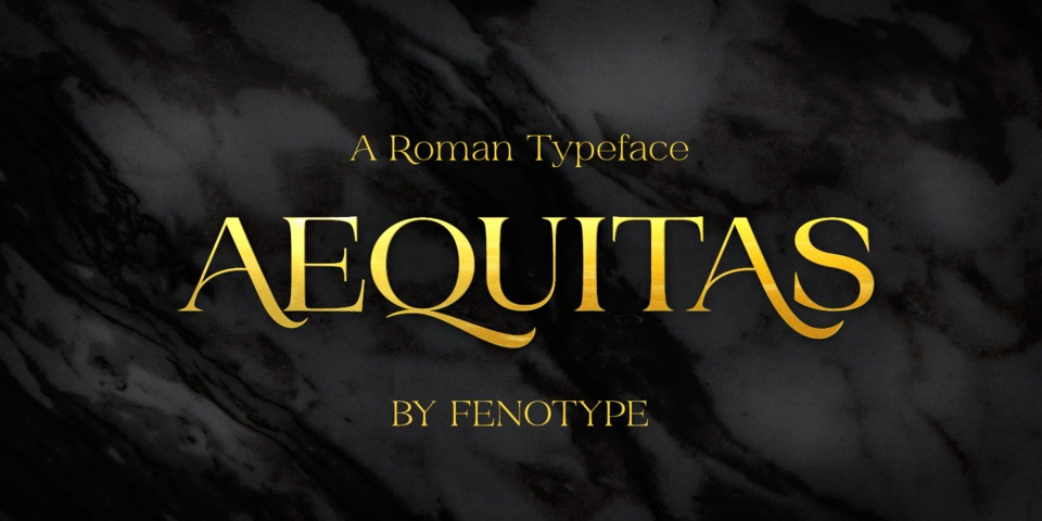 Aequitas font page