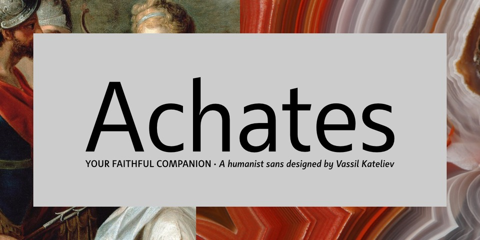 Achates font page