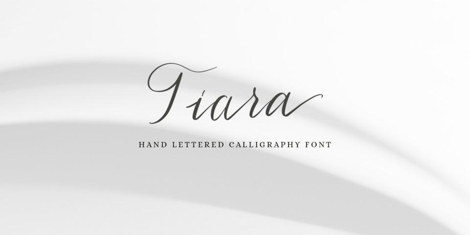 Tiara font page