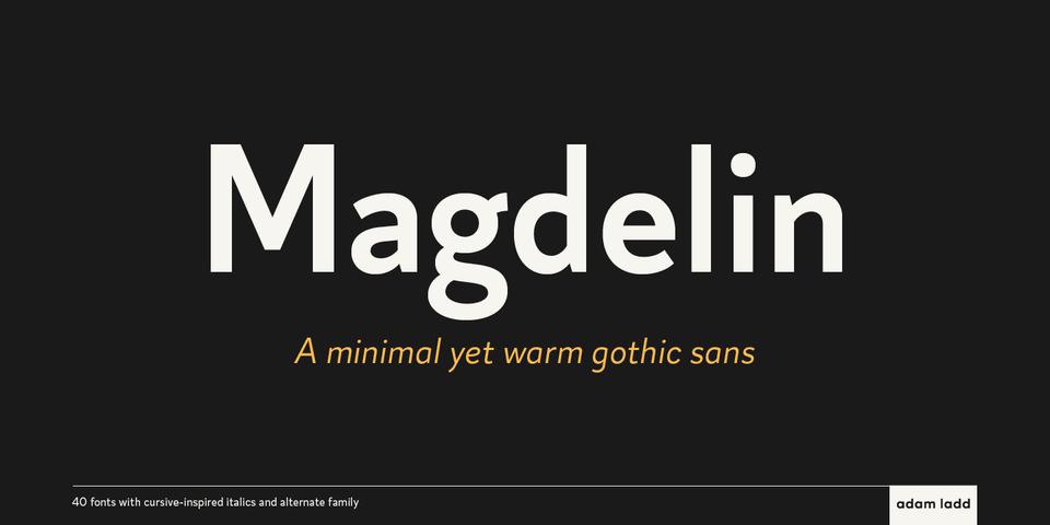Magdelin font page