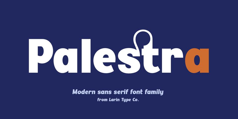 Palestra font page