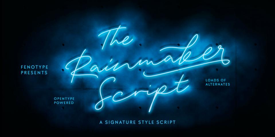 Rainmaker Script font page