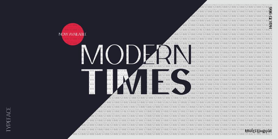 Modern Times font page