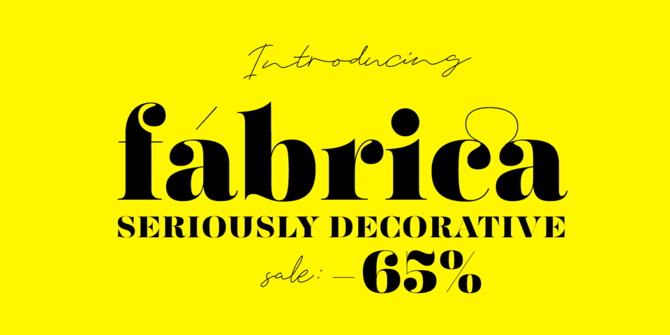 Special offer on Fabrica
