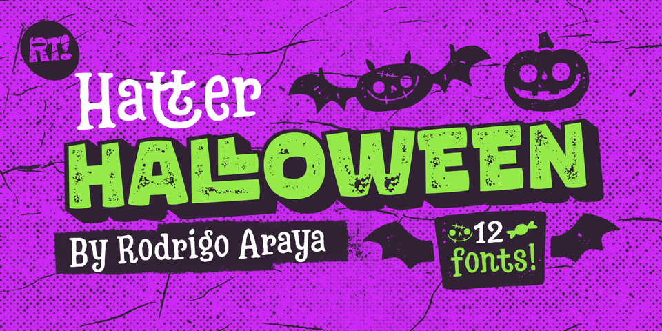 Hatter Halloween font page
