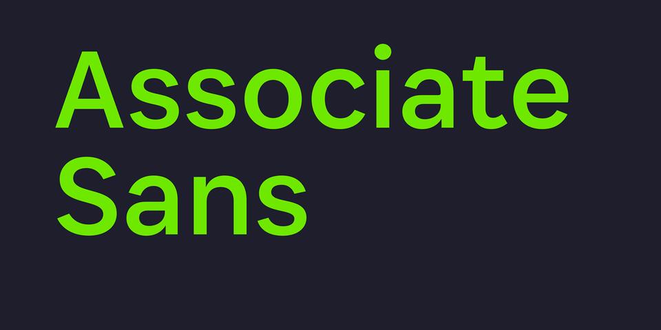 Associate Sans font page