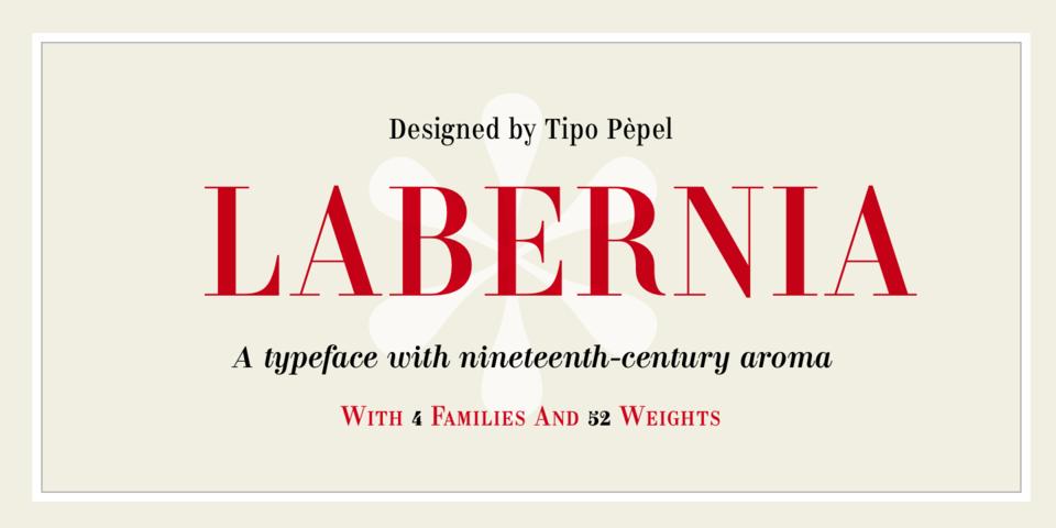 Labernia font page