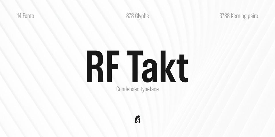 RF Takt font page