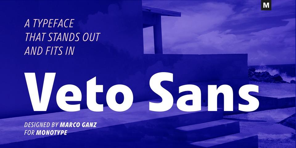 Veto Sans font page