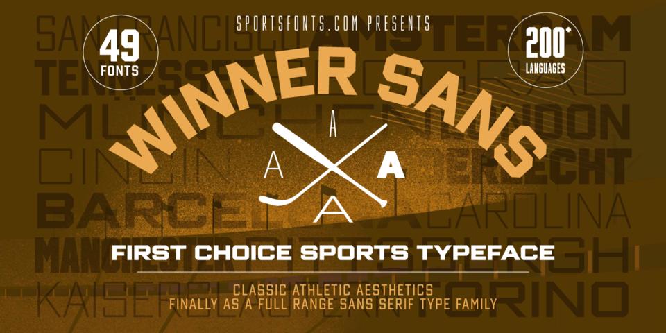 Winner Sans font page