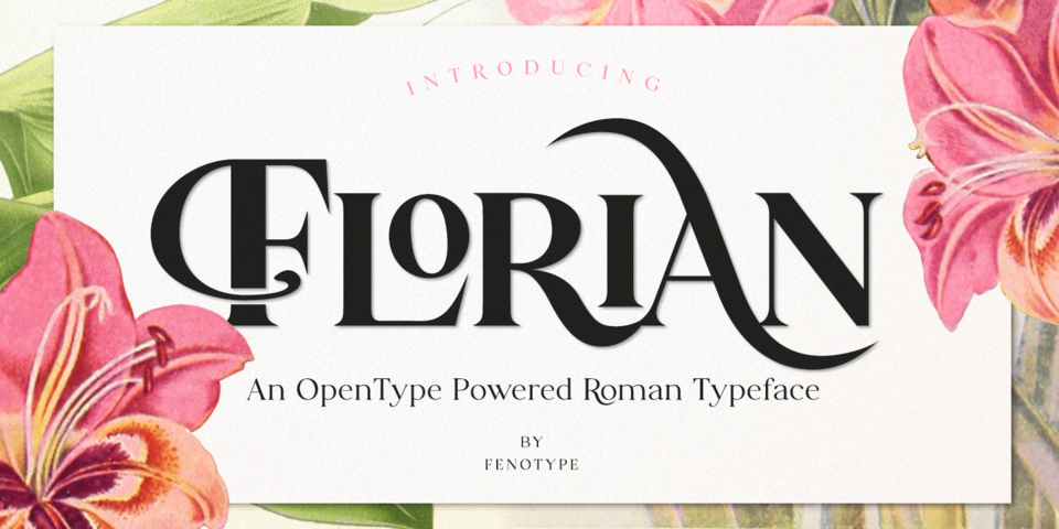 Florian font page
