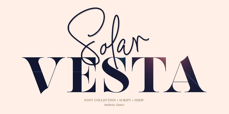 Solar Vesta font page