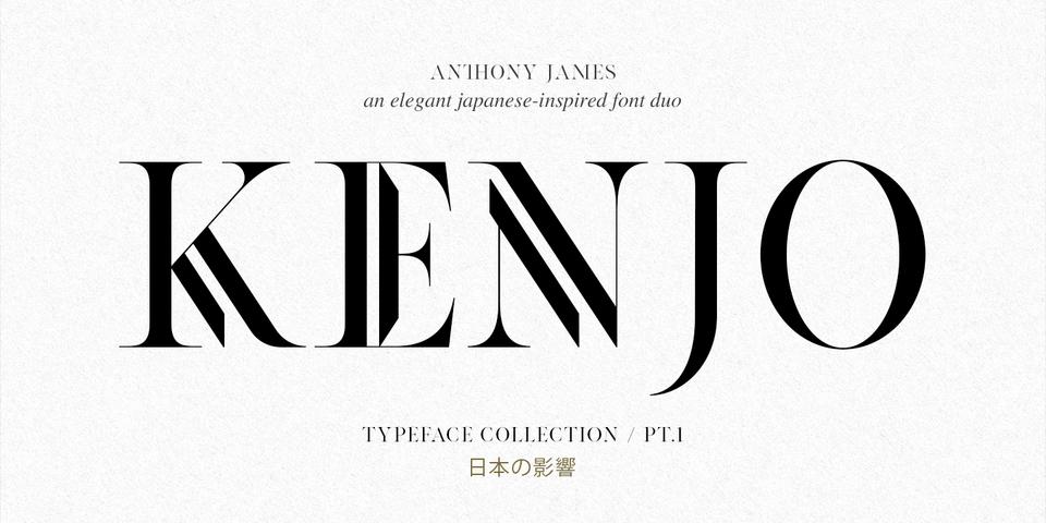 Kenjo font page