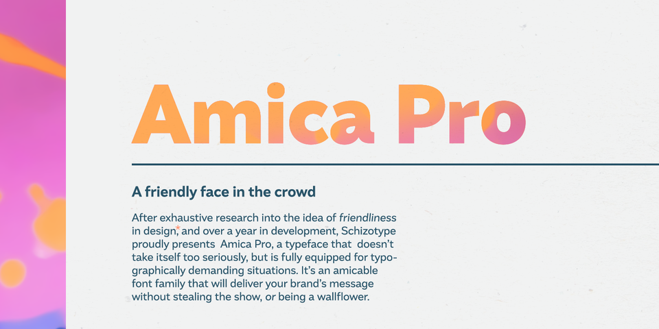 Amica Pro font page