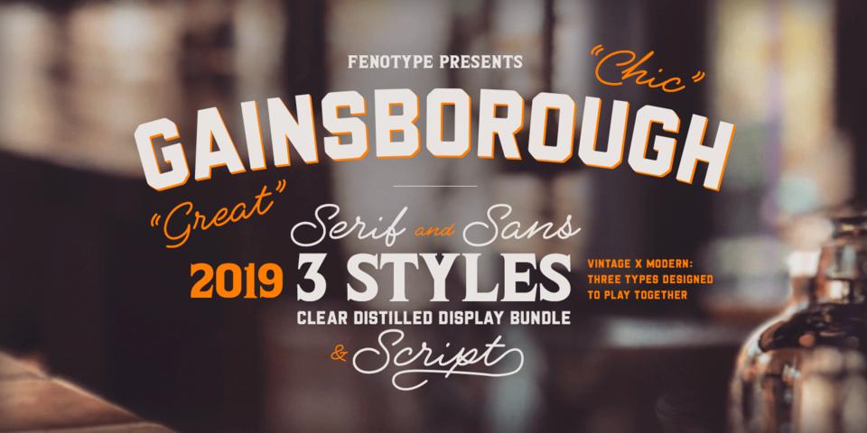 Gainsborough font page