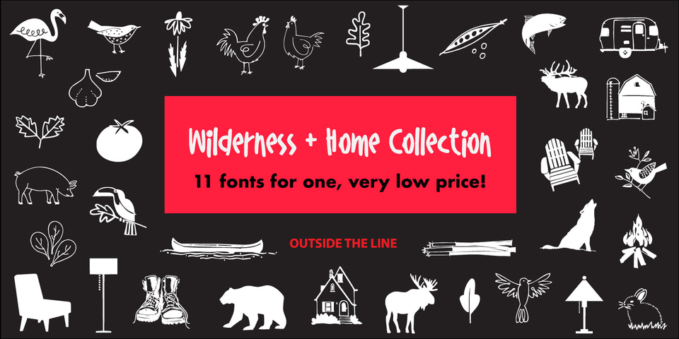 Wilderness and Home Collection font page