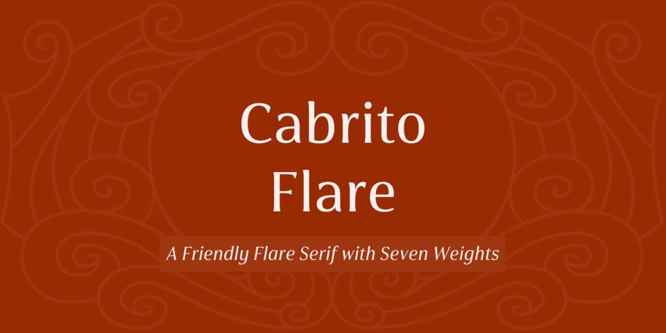 Cabrito Flare font page