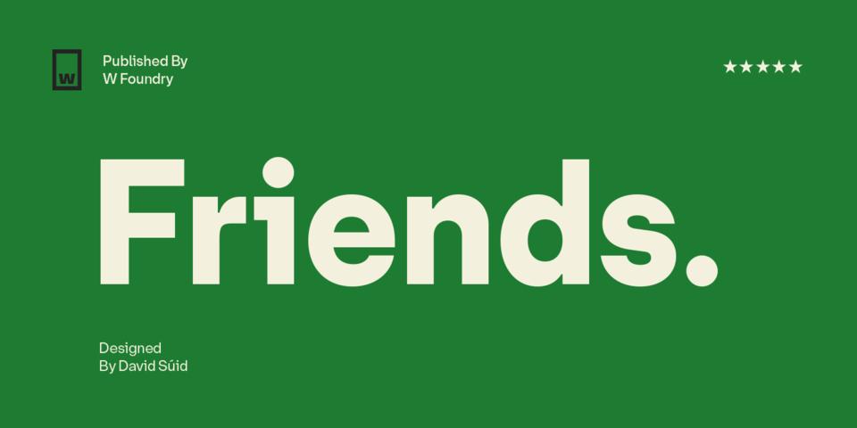 Friends font page