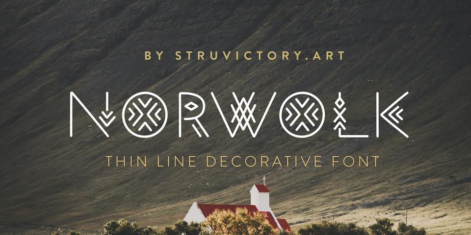 Norwolk font page