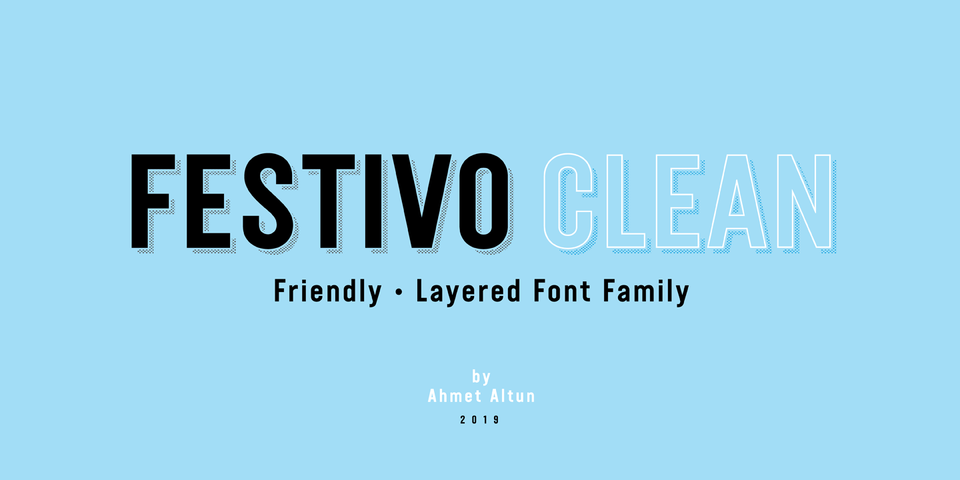 Festivo Clean font page
