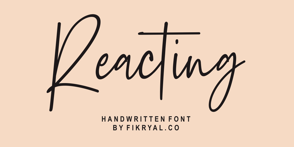 Reacting font page