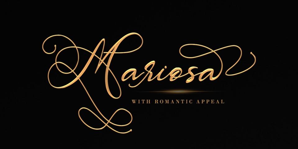 Mariosa font page