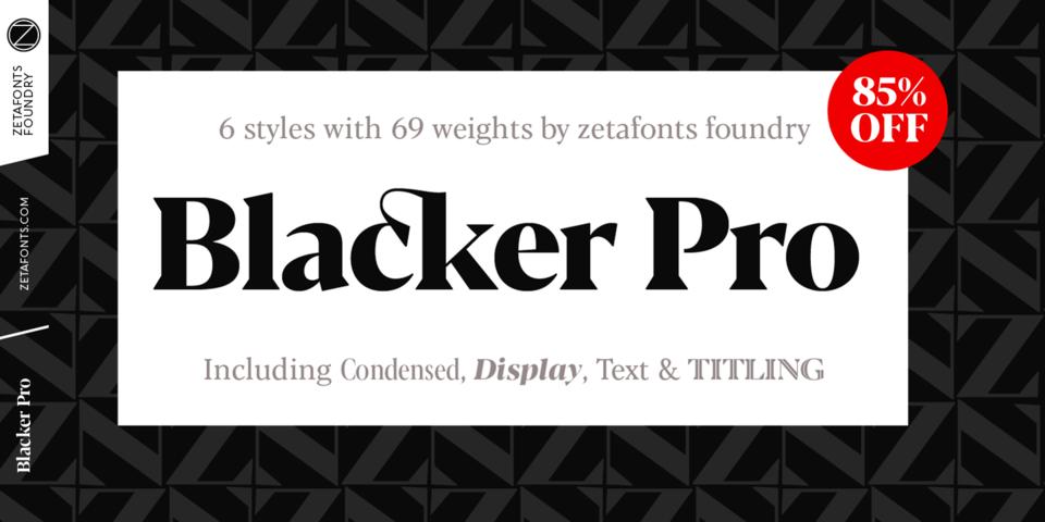 Special offer on Blacker Pro
