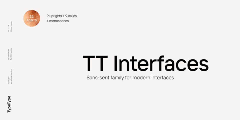 TT Interfaces font page