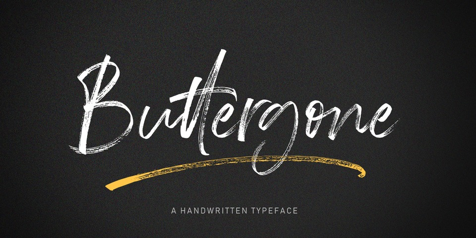Buttergone Brush font page