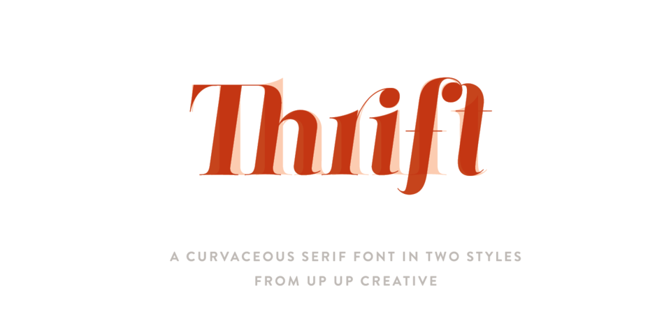 Thrift font page