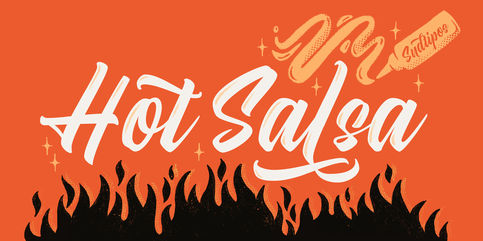 Hot Salsa font page