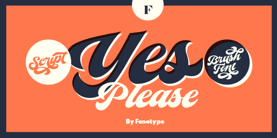 Yes Script font page