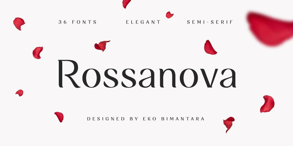 Rossanova font page