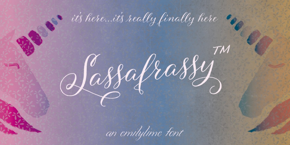 Sassafrassy™ font page