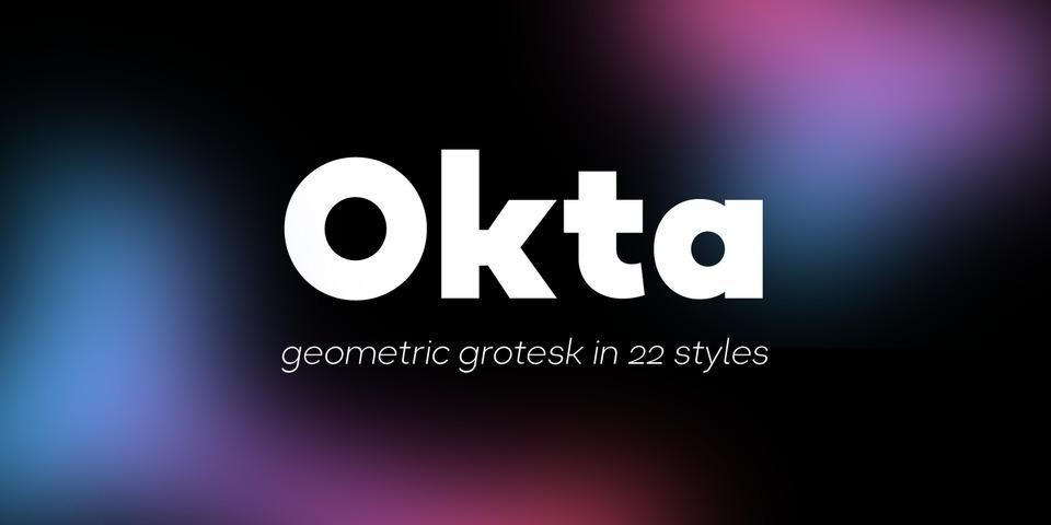 Okta font page