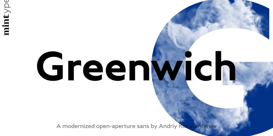 Greenwich font page