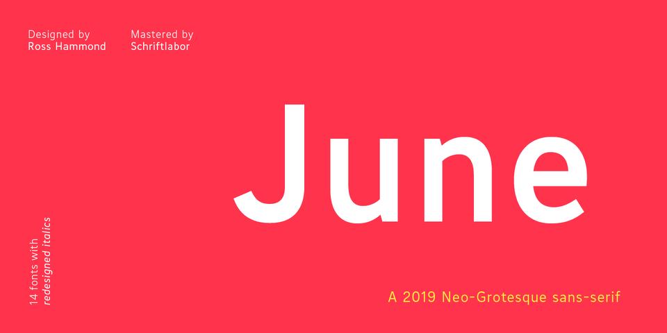 June font page