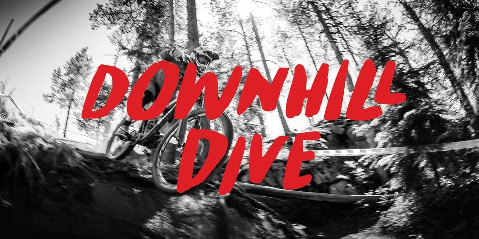 Downhill Dive font page