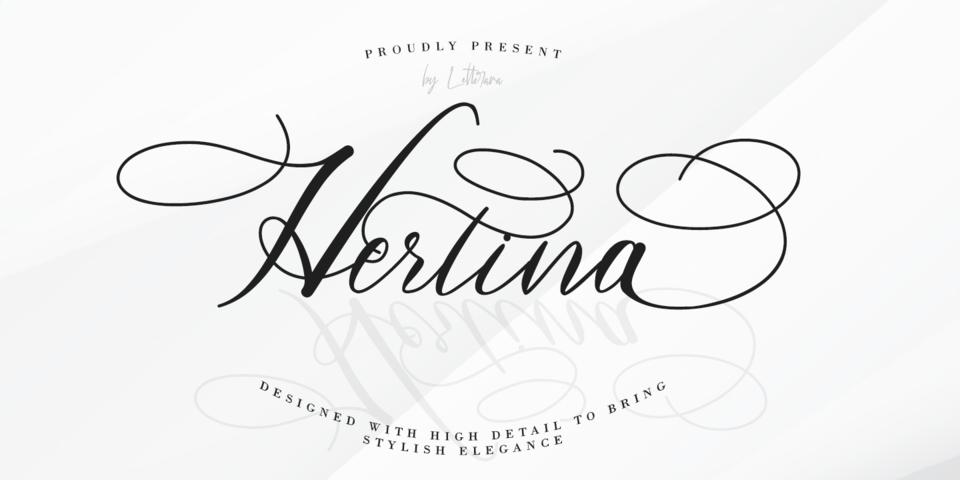 Hertina font page